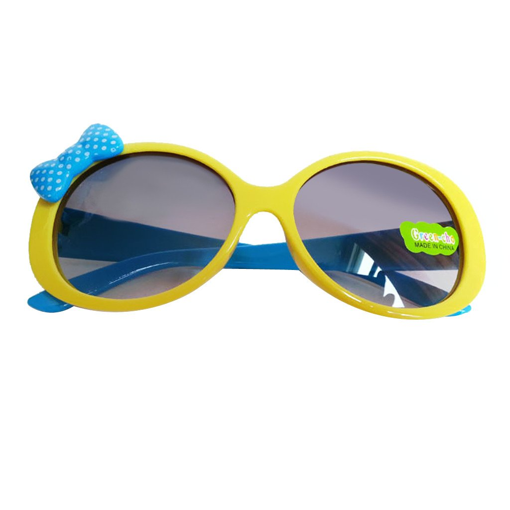 Kids Cute Fashion Bowknot Decoration Fun Sunglasses Gift Yellow Frame Generic STK0115018617