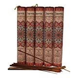 Premium Patchouli Incense Sticks 5 Set Gift Pack with a Holder In Each Box, Includes 150 Sticks and Five Incense Burners