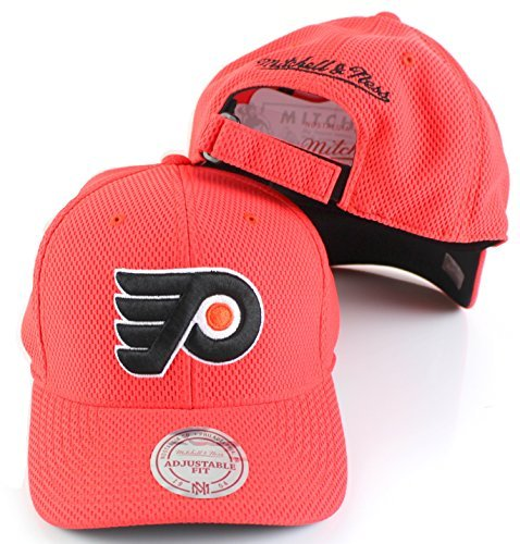 Mitchell & Ness NHL Hexagon Jersey Mesh Hook & Loop Strapback Hat (One Size, Philadelphia -