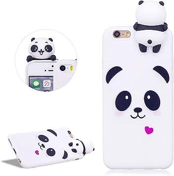 Daskan Dessin Animé 3d Panda Silicone Coque Iphone 6 Plus6s Pluscoeur Damour Motif Animaux Ultra Mince Souple Fine Caoutchouc Housse De Arrière