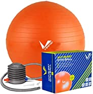 VERIFIED Exercise Ball for Fitness, Professional Grade Stability Ball for Physical Therapy, Improved Posture,