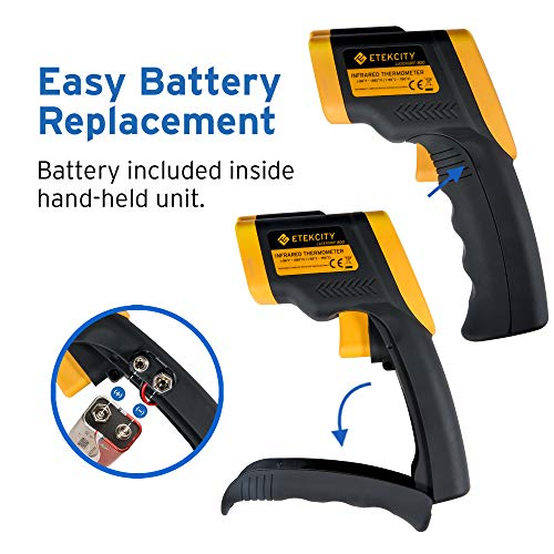 Etekcity Lasergrip 800 Digital Infrared Thermometer Laser Temperature Gun Non-contact -58℉ - 1382℉ (-50℃ to 750℃), Yellow/Black by Etekcity (Image #4)
