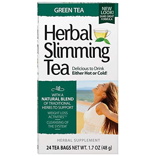 21st Century Herbal Slimming Tea, Green Tea, Caffeine Free, 24 Tea Bags, 1.6 oz (45 g)
