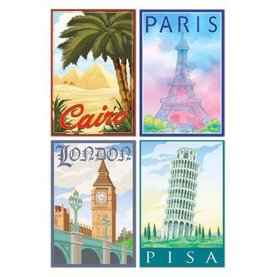 International Travel Cutouts (4/Pkg) for $<!--$3.29-->