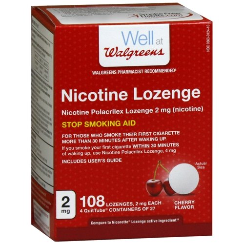 (Walgreens Nicotine Lozenges 2mg, Cherry, 108 ea)