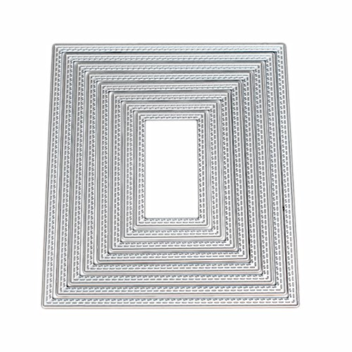 Kwan Crafts Large Size 15cm Double Sew Thread Rectangle Metal Die Cutting Dies for DIY Scrapbooking Photo Album Embossing 8062702 by Kwan Crafts