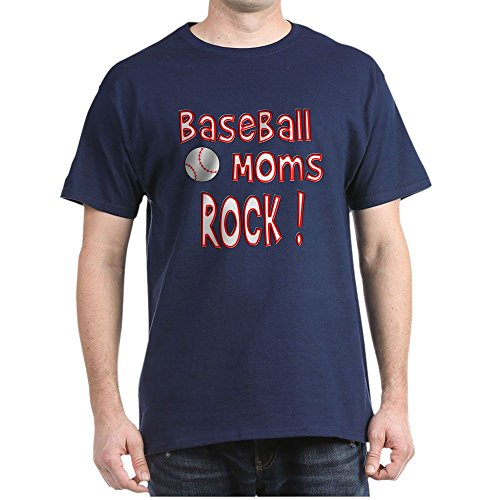 CafePress Baseball Moms Rock ! - 100% Cotton T-Shirt (Baseball Moms Rock)