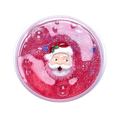 VOWUA Slime Christmas Series Christmas Tree Snowman Santa Claus Slime Putty Stress Relief Kids Clay -