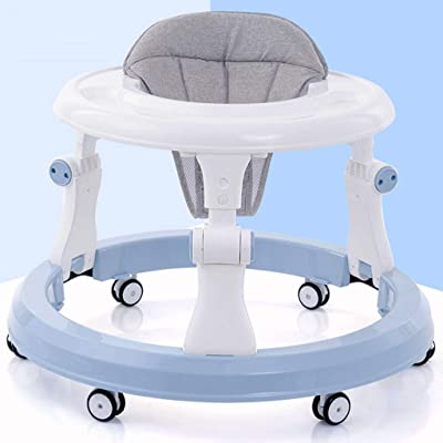 Baby Walker Anti-o-Leg Male Baby Multi-Function Start Anti-Rollover Hand Push Children Can Sit for 6-18 Months Boy and Girl Blue : Baby [5Bkhe0305997]