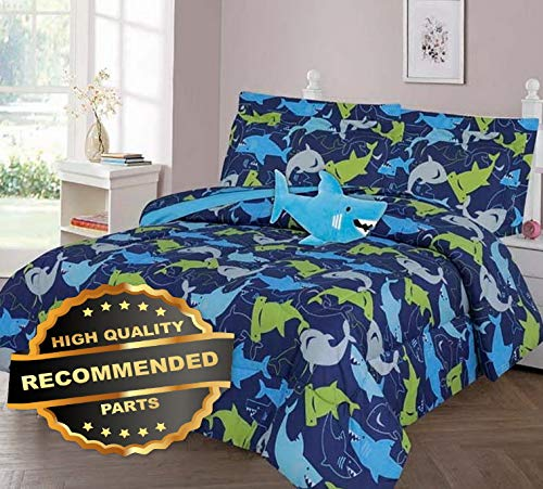 (Werrox in The DEEP Blue SEA Comforter Bed Sheet Set Window Panel Valance Kids Teens Size | Quilt Style QLTR-291267469)