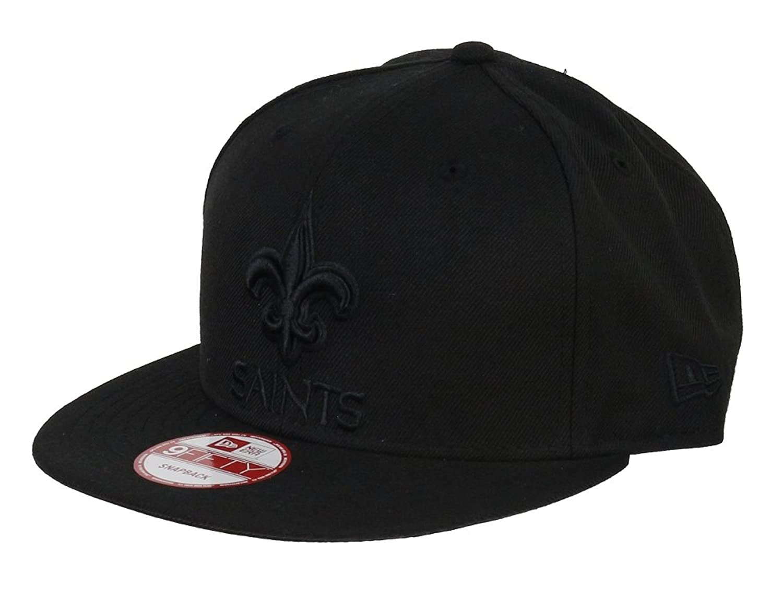 89f67a932386 New Era New Orleans Saints Black On Black Snapback Cap 9fifty ...