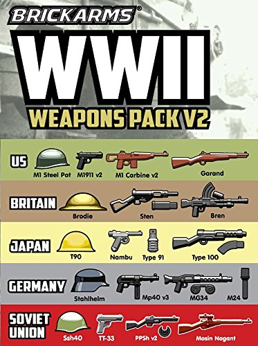 (BrickArms WWII Pack v2 2018 New!)