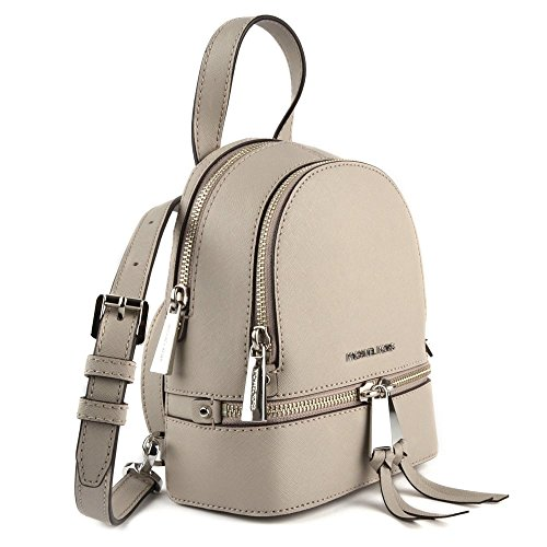 346259839b40 MICHAEL by Michael Kors Rhea Zip Cement Extra Small Messenger Backpack uni  Cement  Amazon.co.uk  Clothing