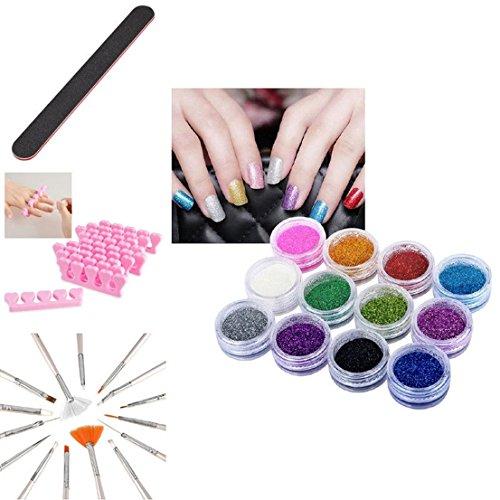 40pcs Nail Art Brushs Drawing Polish Painting Design Set Dotting Pen Beads Tools