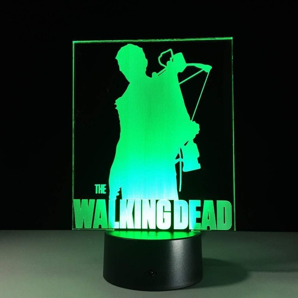 3D Licht Nacht Walking Dead 3D Lampe Acryl Led 3D Nachtlicht Lampe Baby Schlafen Atmosph/äre Lampe Schlafzimmer Licht als Kinderspielzeug Geschenke