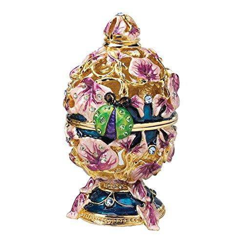 Design Toscano The Royal Garden Ladybug Enameled Egg in Lavender
