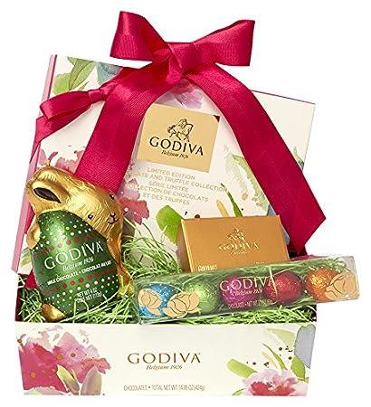 Amazon godiva chocolatier easter cheer basket with godiva godiva chocolatier easter cheer basket with godiva gourmet chocolate gifts negle Gallery