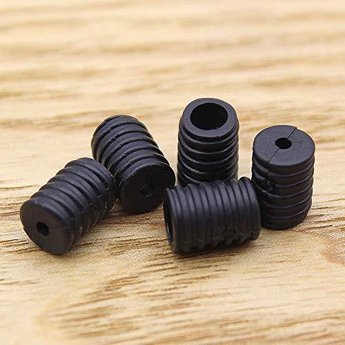 Moosth Cord Locks Plastic Toggles for Drawstrings Elastic Cord Buckles Adjuster Non Slip Stopper Black (100)