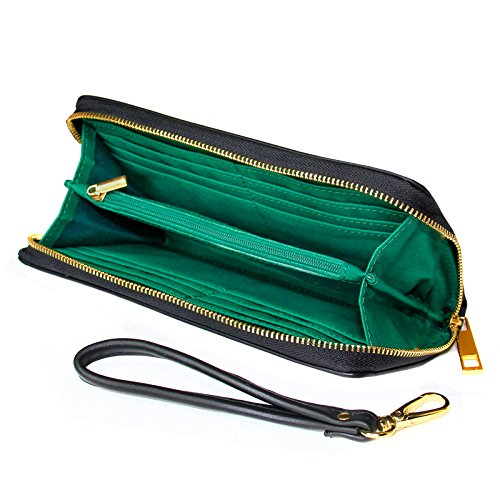 Wallet Clutch I Love St. Patrick's Day St. Patrick's Day Cute Shamrocks with Removable Wristlet Strap Neonblond by NEONBLOND (Image #1)