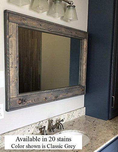 Renewed Décor Double Vanity Herringbone Reclaimed Wood Mirror - distressed wood mirrors