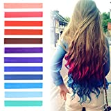 Bleaching Hair At Home Without A Kit - Best DIY Red to Blue Ombre Hair Dye Set of 12 | USA inspired Hair Dye | INDEPENDENCE Hair Dye | with Shades of Raspberry, Red, Pastel Purple and Blue Set of 12 Temporary Hair Chalk | Color your Hair Blue Red Ombre in seconds with temporary HairChalk