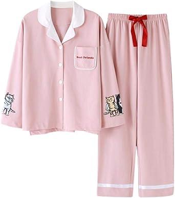 Pijamas, Pijama Conjunto De Mujer Pjs Manga Larga Y Pantalones ...