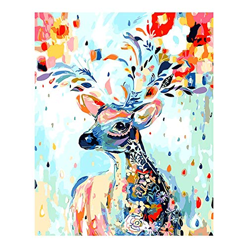 Aovie DIY Full Drill Diamond Painting Reindeer Rhinestone Crystal Embroidery Pictures 30x40CM Cross Stitch for Home Wall Decor