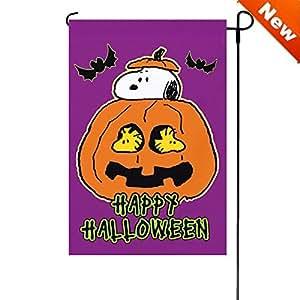 "Halloween PEANUTS Happy Halloween Garden Flag 12""x18"" 24837"