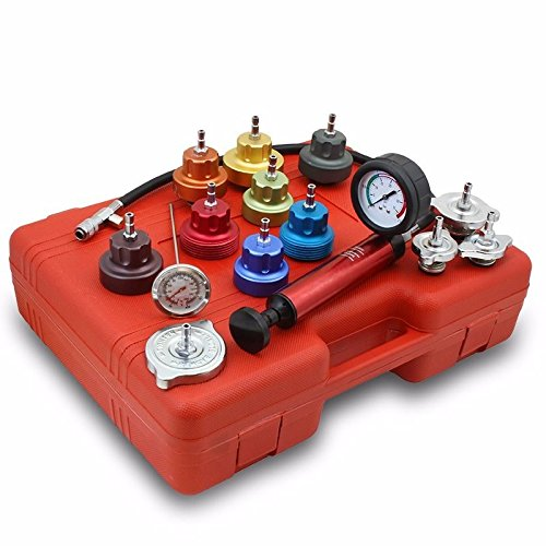 Generic YanHong-AUS3-150916-7 8yh1355yh apter w/ Case Tester Checker Kit Alumin 14 PC Radiator Pump 14 PC Rad Kit Aluminum re Leak T Pressure Leak or Pump P Adapter w/ Case