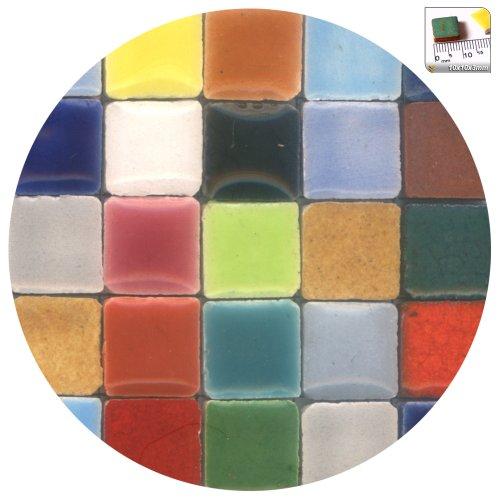 - ALEA Mosaic Mosaic-Minis(25/64 inch) (10x10x3mm), 250 pieces, Random mix all, MXAL