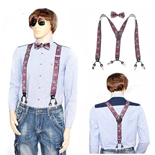 4ab048821 UMEE Pantalones Signor Charm Negocio Social De Tirantes Elásticos Fuerte  Traje De Escena Ropa Para Hombre