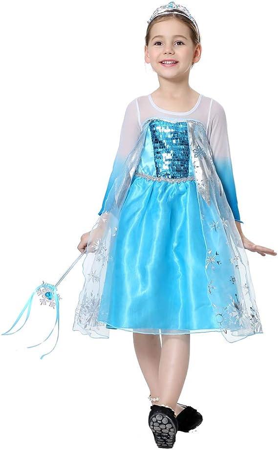 Disfraz de Princesa para niñas de 3 a 8 años: Amazon.es: Ropa y ...