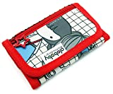 Trifold Canvas Outdoor Sports Wallet for Kids - Front Pocket Wallet with Zipper - G