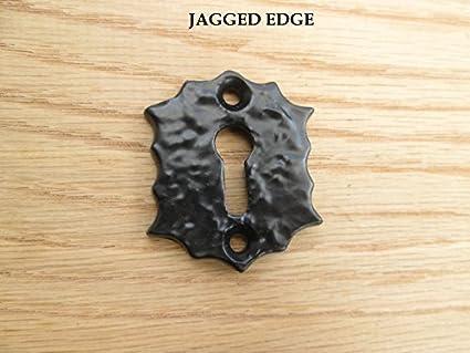 Ironmongery World® Victoriano Vintage antiguo estilo hierro cerradura clave agujero Covers embellecedor para con tapa