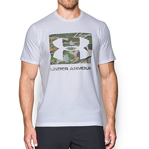 Under Armour Men's Camo Knockout Logo T-Shirt, White/Not Assigned, (Large Logo T-shirt)