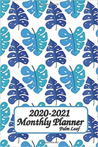 Amazon.com: 2020-2021 Monthly Planner Palm Leaf: 6x9 inches ...