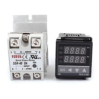 eDealMax Digitale PID regolatore di temperatura del termostato + SSR-40 DA + dissipatore di