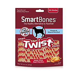 SmartBones SBTT-02942 Twists- Chicken (50 Pack), One Size