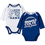 Gerber Baby Boys Indianapolis Colts Long Sleeve Bodysuits 2 Pack