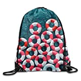 Poolside Mediterranean Cool Drawstring Travel Sports Backpack
