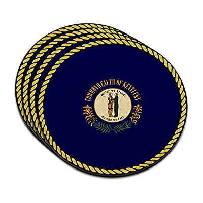 Kentucky State Flag MDF Wood Coaster Set of 4