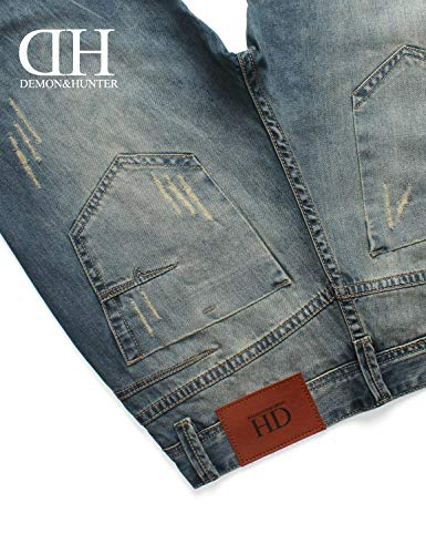 Cut Series Blau Jeans Moda Straight Stretch Casual Fit Semplice Uomo Stile Pantaloni Retro 802r g64qdtxd