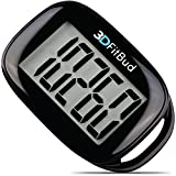 Cheap 3DFitBud Simple Step Counter Walking 3D Pedometer with Lanyard, A420S (Black)