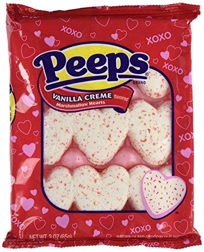 Marshmallow Peeps Vanilla Creme Hearts 9ct. (9 Ct Heart)