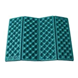 HS 1PC Foldable Folding EVA Foam Waterproof Chair Cushion Seat Pads Mat for Camping Hiking Sports Outdoor Activities (Dark green)