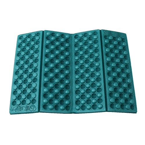 Folding Chair Seat Pad - HS 1PC Foldable Folding EVA Foam Waterproof Chair Cushion Seat Pads Mat for Camping Hiking Sports Outdoor Activities (Dark green)
