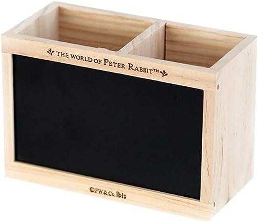 Portapluma Pizarra de Madera Creativo Multifuncional papelería de Oficina Borrador de Pizarra con Tiza (Color : Black): Amazon.es: Hogar