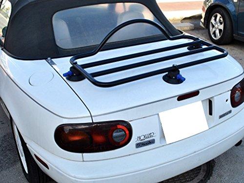 Mazda Miata NA Trunk Rack Unique Design, No Clamps No Straps No Brackets No Paint Damage