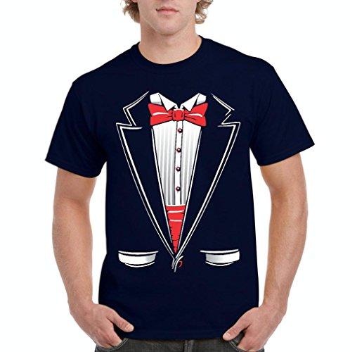 [Artix Tuxedo Fashion Halloween Party People Funny Prom Costume Best Friend Gift Men's T-Shirt Tee Large Navy] (John Homestuck Costumes)