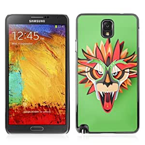 Designer Depo Hard Protection Case for Samsung Galaxy Note 3 N9000 / Colorful Dragon Mask